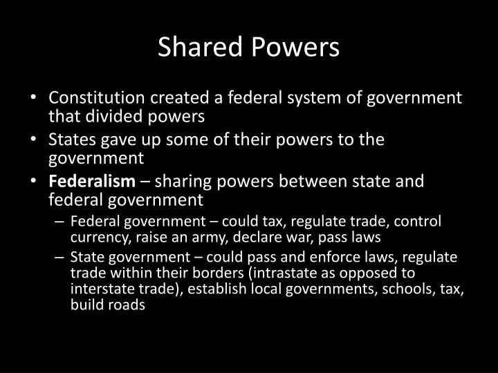 Shared Powers