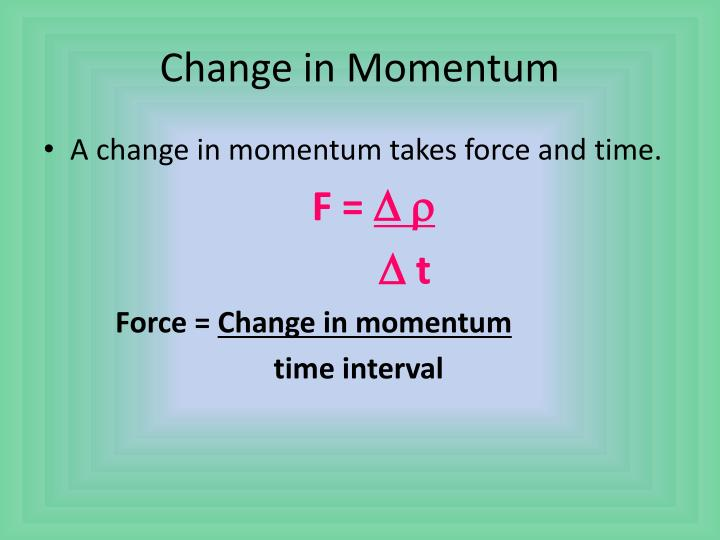 Change in Momentum