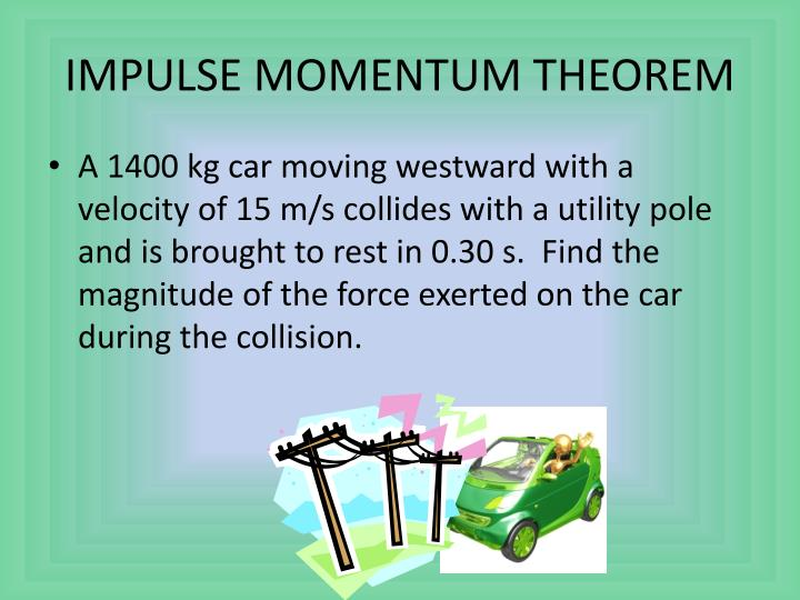 IMPULSE MOMENTUM THEOREM