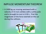 impulse momentum theorem1