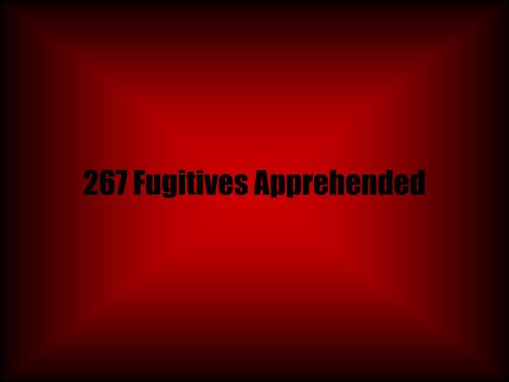 267 Fugitives Apprehended