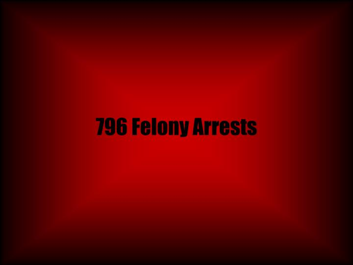796 Felony Arrests