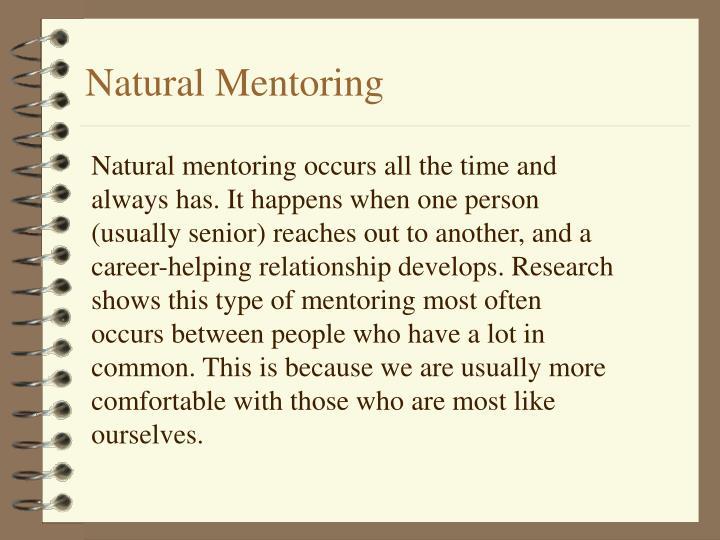 Natural Mentoring