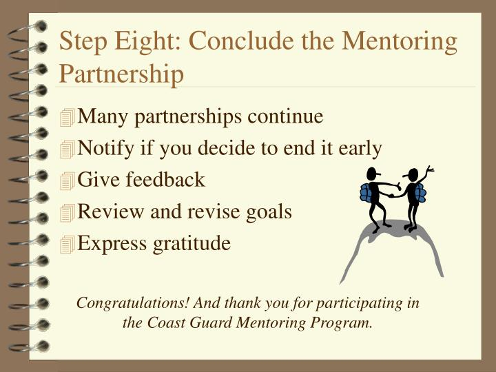 Step Eight: Conclude the Mentoring Partnership