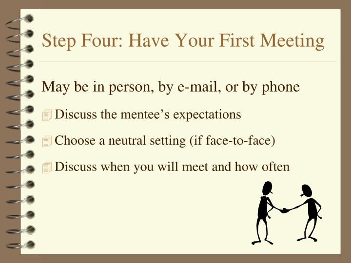 Step Four: Have Your First Meeting