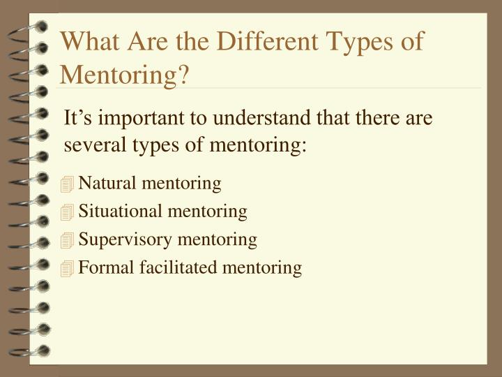 What Are the Different Types of Mentoring?