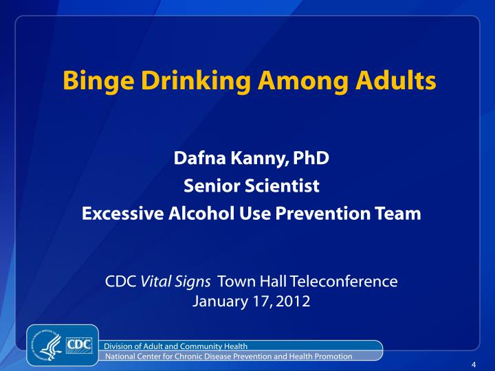 Binge Drinking Among Adults