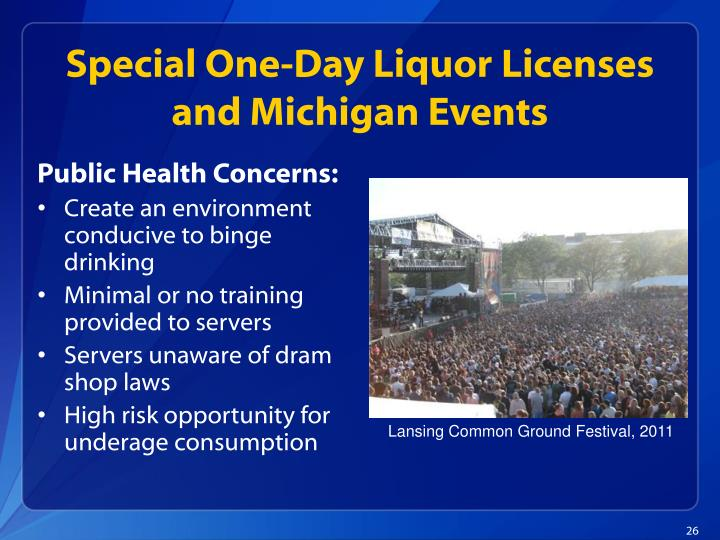 Special One-Day Liquor Licenses and Michigan Events