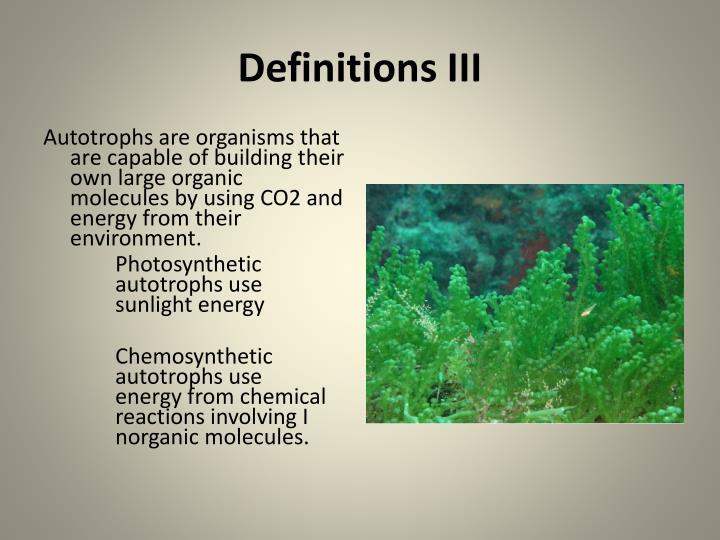 Definitions III