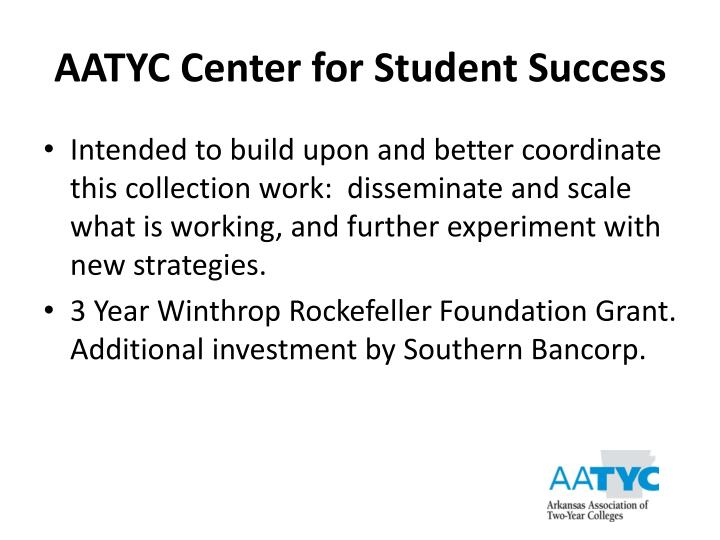 AATYC Center for Student Success