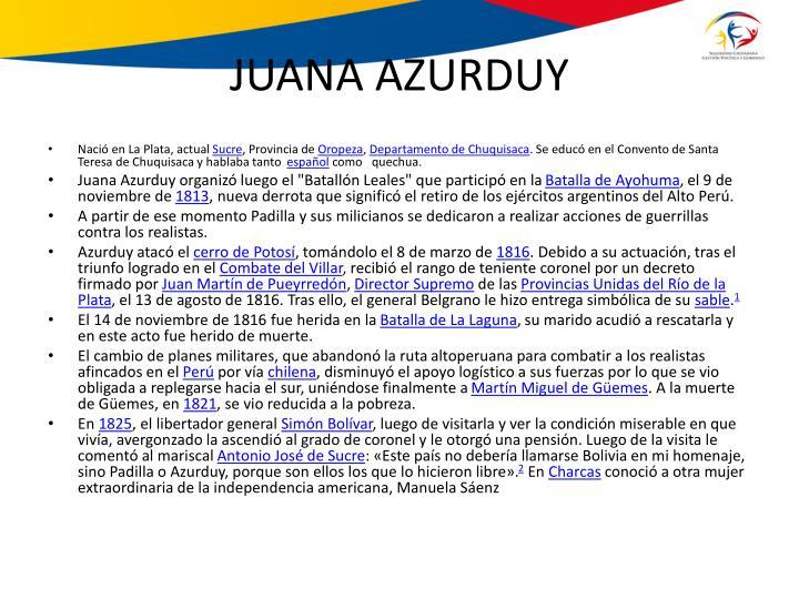 JUANA AZURDUY
