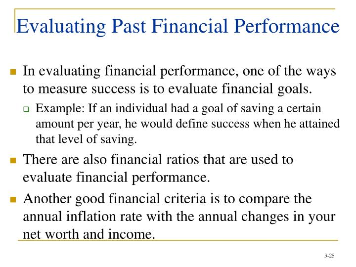 Evaluating Past Financial Performance