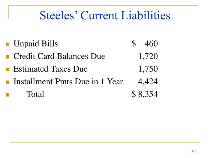 Steeles' Current Liabilities