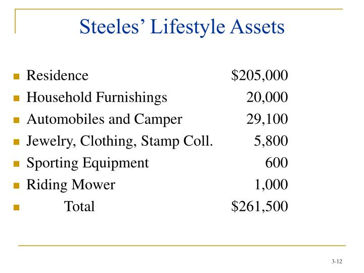 Steeles' Lifestyle Assets