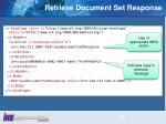 retrieve document set response1