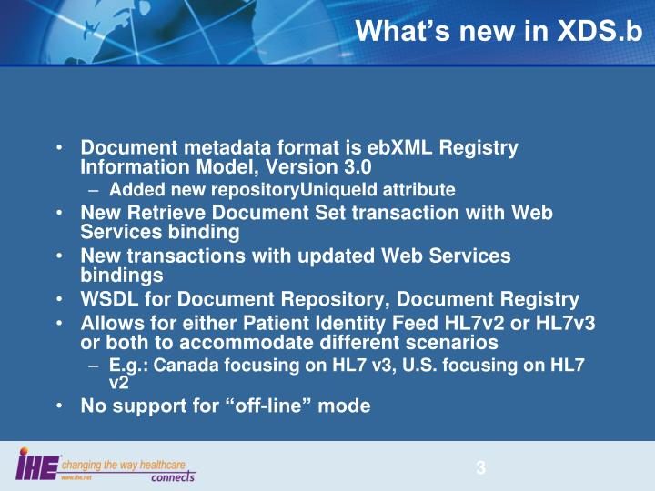 What's new in XDS.b