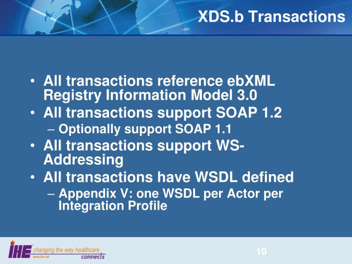 XDS.b Transactions