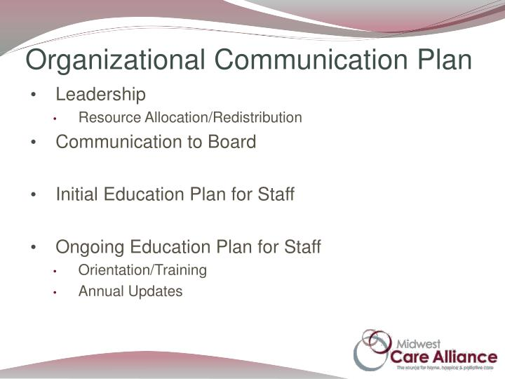 Organizational Communication Plan