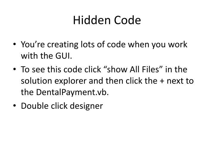Hidden Code