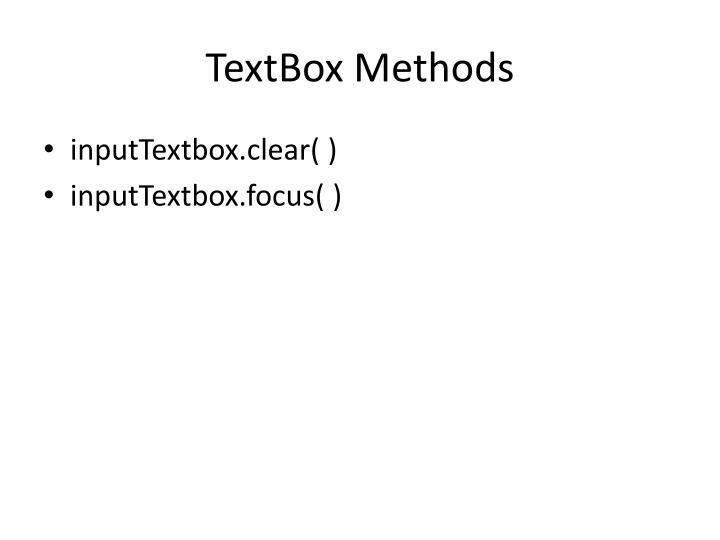 TextBox Methods