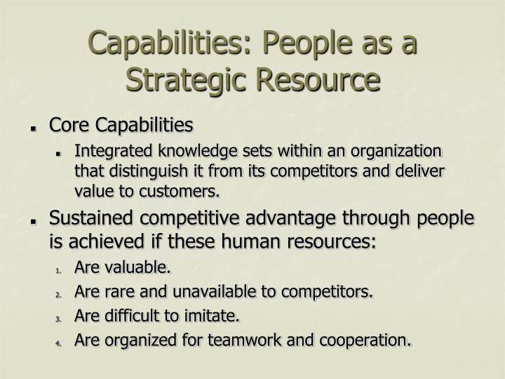 Capabilities: People as a Strategic Resource