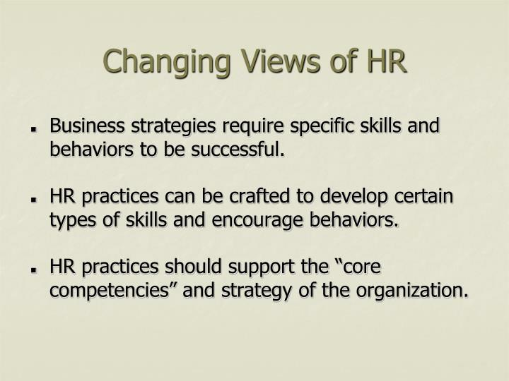 Changing Views of HR