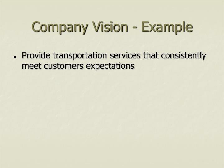 Company Vision - Example