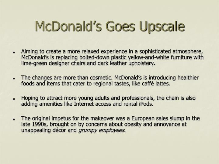 McDonald's Goes Upscale