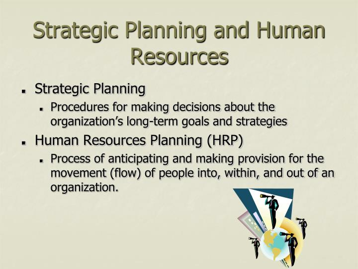 Strategic planning and human resources
