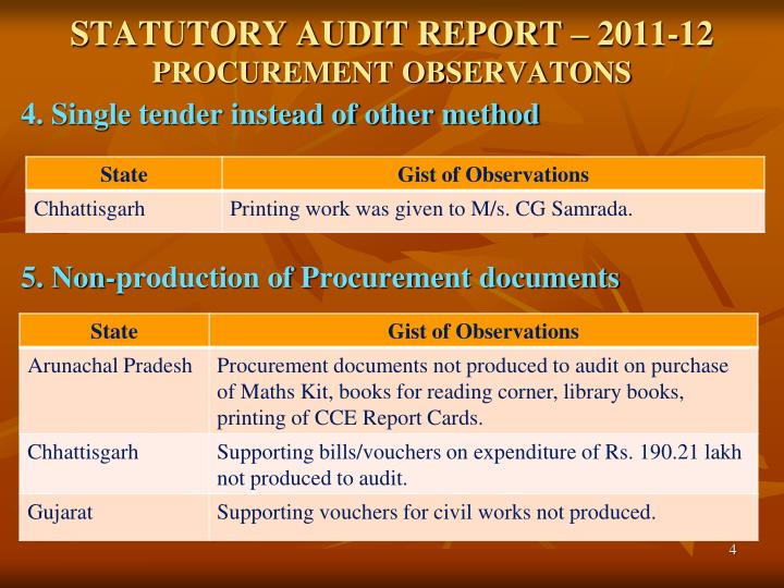 STATUTORY AUDIT REPORT – 2011-12