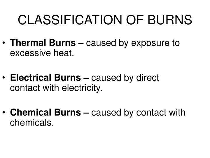 Thermal Burns –
