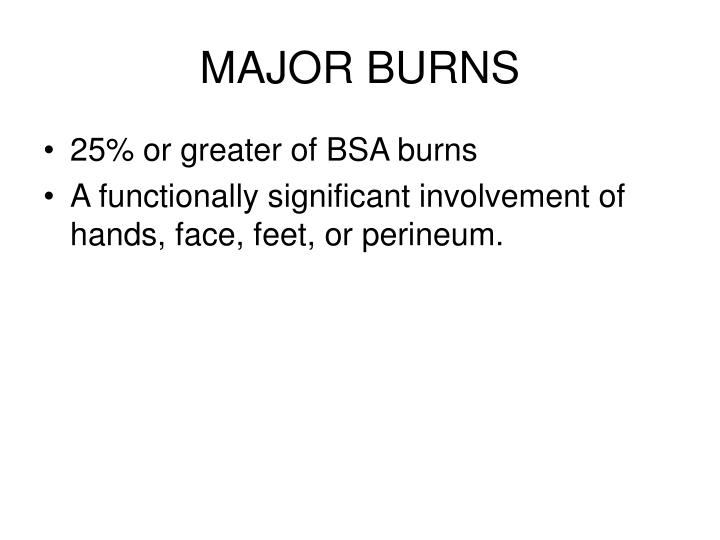 MAJOR BURNS