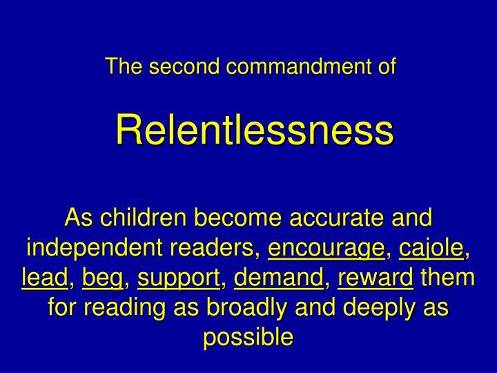 The second commandment of