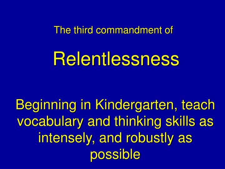 The third commandment of