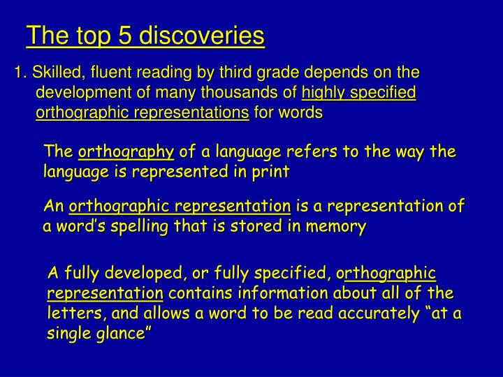 The top 5 discoveries