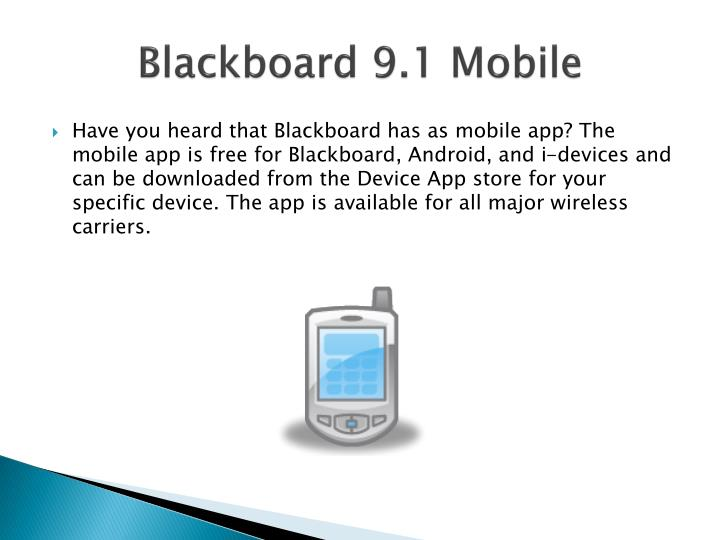 Blackboard 9.1 Mobile