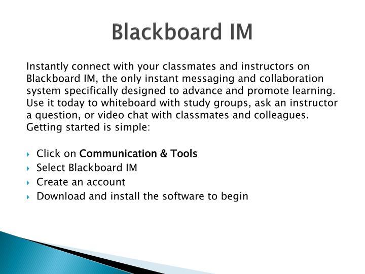 Blackboard IM