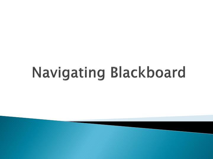 Navigating Blackboard