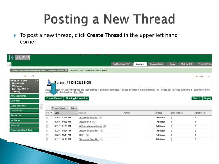 Posting a New Thread