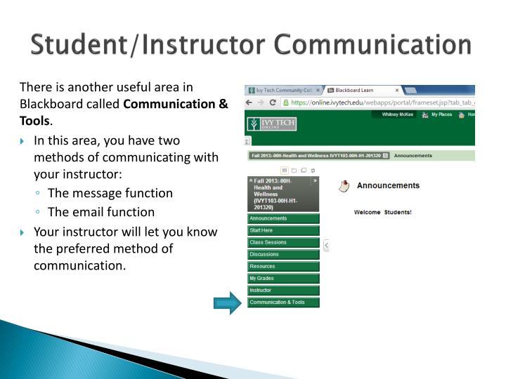 Student/Instructor Communication