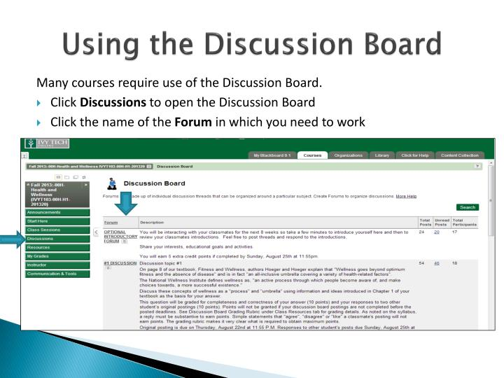 Using the Discussion Board