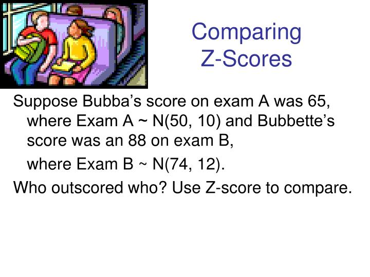 Comparing       Z-Scores