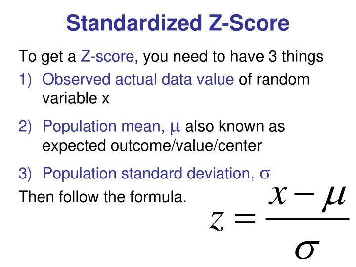 Standardized Z-Score