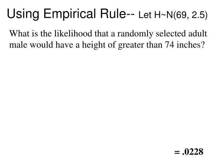 Using Empirical Rule--