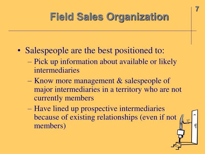 Field Sales Organization