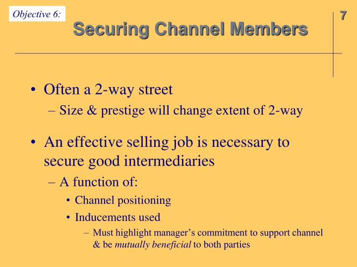 Objective 6: