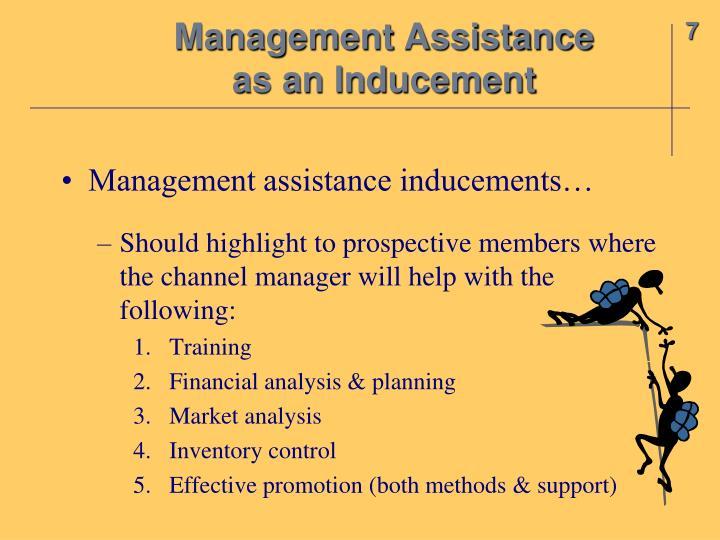 Management Assistance