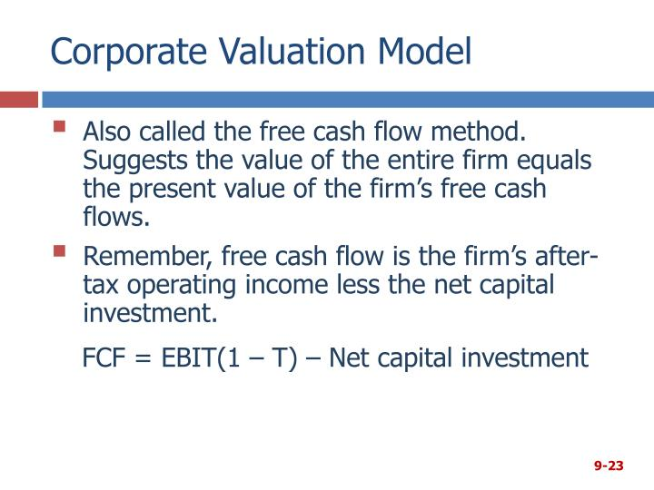 Corporate Valuation Model
