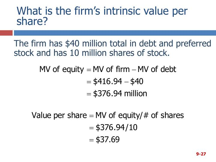 What is the firm's intrinsic value per share?