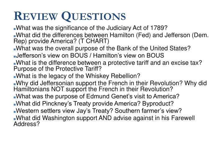What was the significance of the Judiciary Act of 1789?